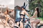 Mỹ nhân Việt diện bikini đạp xe: TikToker Lê Bống phản cảm nhất