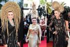 Dàn tóc độc lạ nhất Cannes: Chiếc cao 1 mét, chiếc hình bạch tuộc