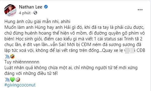 Nathan Lee khịa Cao Thái Sơn anh hùng rơm khi giải cứu Ngọc Trinh-2