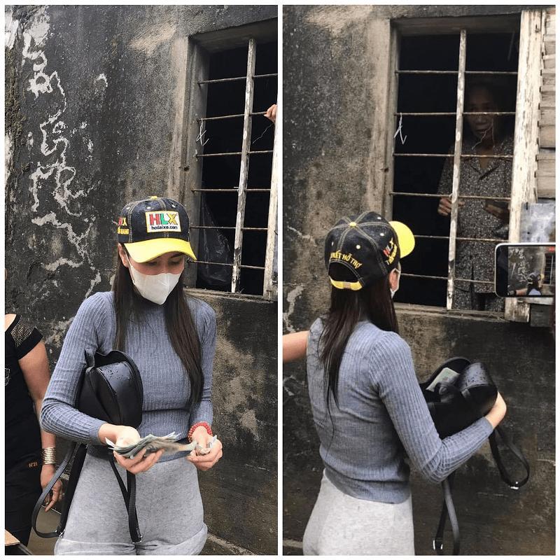 BST giày lênh khênh, áo hở ngực của mỹ nhân Việt khi đi từ thiện-3