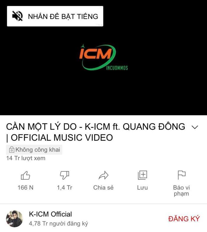 Trước thềm comeback, MV của K-ICM bất ngờ bay màu khỏi Youtube?-4