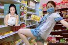 Trâm Anh bị chỉ trích vì mặc đồ ngủ tạo dáng phản cảm trong siêu thị
