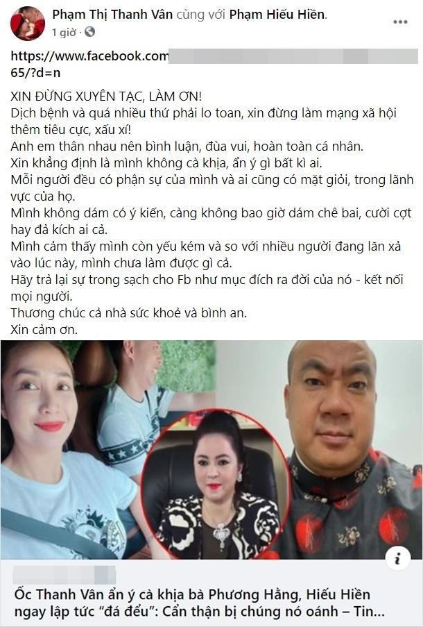 Ốc Thanh Vân bị chửi rủa vì đá đểu Phương Hằng: Sự thật là gì?-4