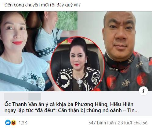 Ốc Thanh Vân bị chửi rủa vì đá đểu Phương Hằng: Sự thật là gì?-5