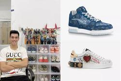 Bóc giá tủ giày hiệu hơn trăm triệu của cầu thủ Tiến Linh