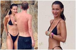 Bella Hadid diện bikini sexy hết nấc, 'tình bể bình' bên bạn trai mới