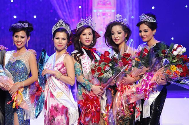Nhan sắc Thu Hoài, Thúy Nga trong cuộc thi Hoa hậu bị tố mua giải-1