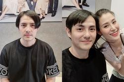 Cắt tóc cho Ông Cao Thắng, Đông Nhi 'biến' chồng thành Giang Còi