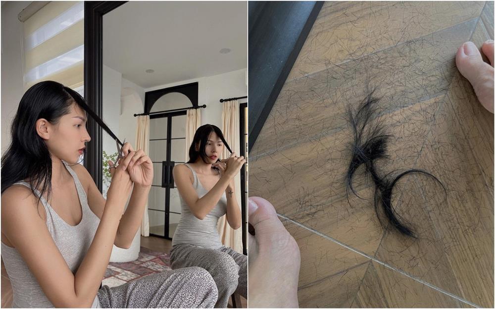 Kỳ Duyên nhờ Minh Triệu cắt tóc, lộ bằng chứng sống chung?-2