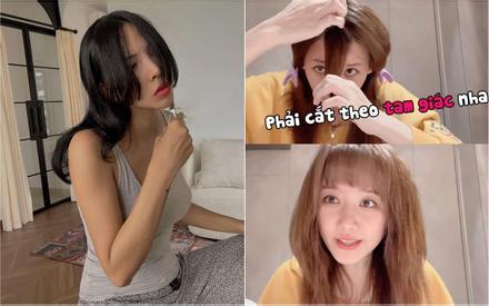 Minh Triệu, Hari Won 'tự xử' tóc mái nhưng người đẹp miễn bàn, kẻ trông 'í ẹ'