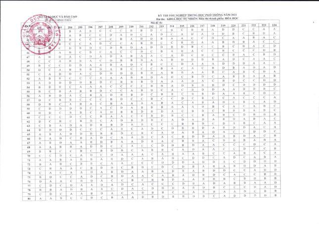 Đáp án tất cả các môn trắc nghiệm thi tốt nghiệp THPT của Bộ GD&ĐT-4