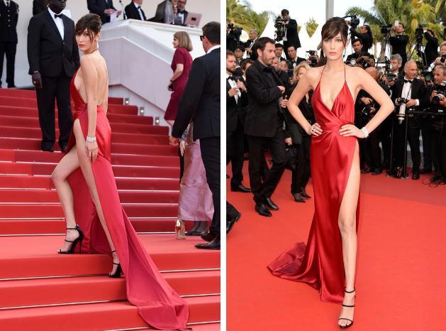 Bella Hadid 2 lần lộ hàng ở Cannes, lần nào cũng lộ ngay tam giác-3
