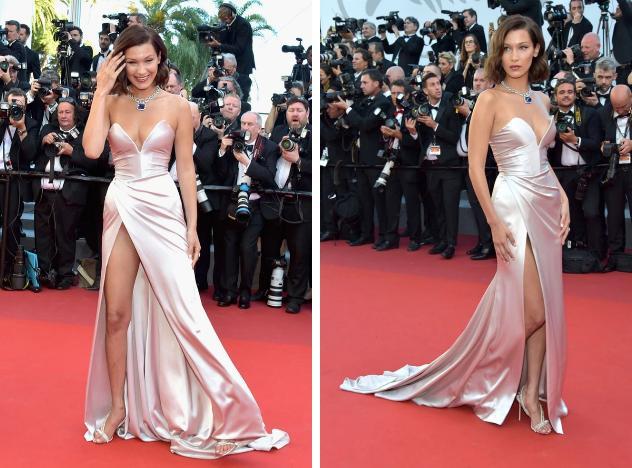 Bella Hadid 2 lần lộ hàng ở Cannes, lần nào cũng lộ ngay tam giác-6