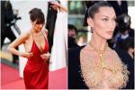 Bella Hadid 2 lần 'lộ hàng' ở Cannes, lần nào cũng lộ ngay 'tam giác'