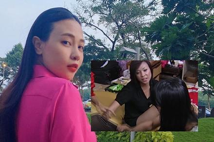 Vợ Cường Đô La bị đào clip to tiếng, giật vali đồng nghiệp
