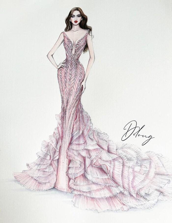 Sau Đỗ Thị Hà, Kim Duyên hé lộ váy dạ hội chinh chiến Miss Universe-3