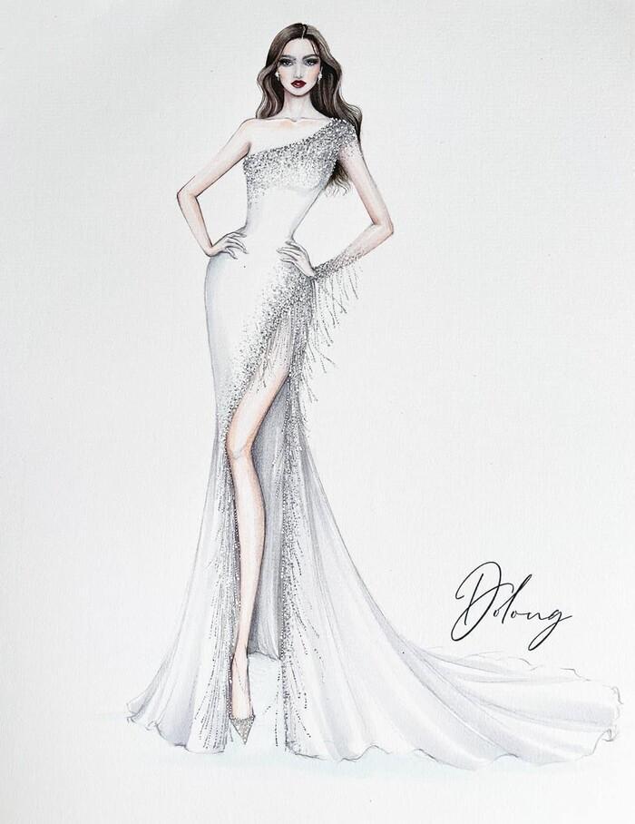 Sau Đỗ Thị Hà, Kim Duyên hé lộ váy dạ hội chinh chiến Miss Universe-4