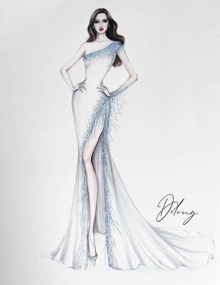 Sau Đỗ Thị Hà, Kim Duyên hé lộ váy dạ hội chinh chiến Miss Universe-5