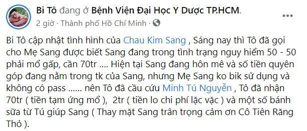 Châu Kim Sang hôn mê, chân tay lạnh ngắt, cần mổ khẩn cấp-1