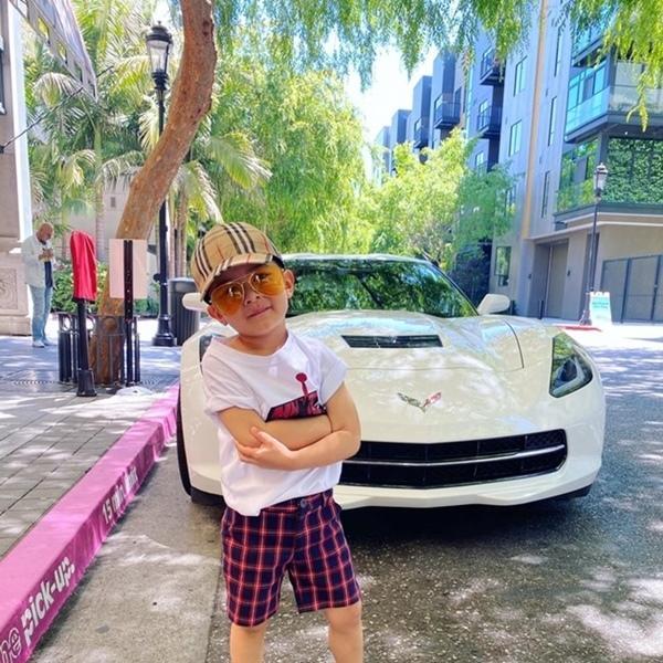 Con trai Đan Trường 4 tuổi sở hữu công ty riêng, mặc toàn hàng hiệu-2