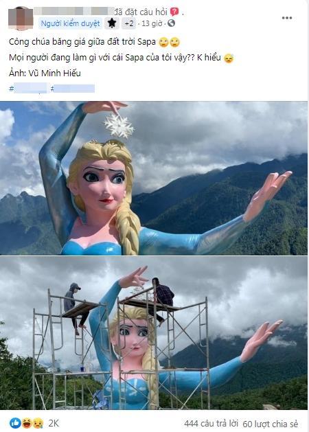 Phiên bản Elsa mặt gẫy mắt lác ở Sa Pa khiến dân check-in cười sằng sặc-1