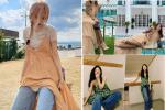 Mix quần jeans với váy dài lạc quẻ: Jessica vẫn đỉnh cao - Ngọc Trinh chán hẳn