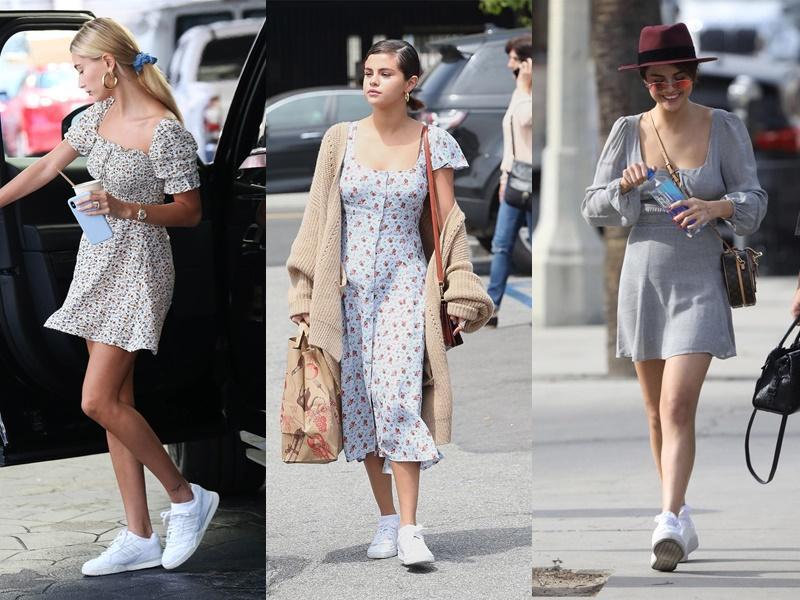 Gu yêu giống nhau, Hailey Bieber - Selena Gomez còn chung gu ăn mặc-1
