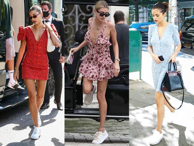 Gu yêu giống nhau, Hailey Bieber - Selena Gomez còn chung gu ăn mặc-2