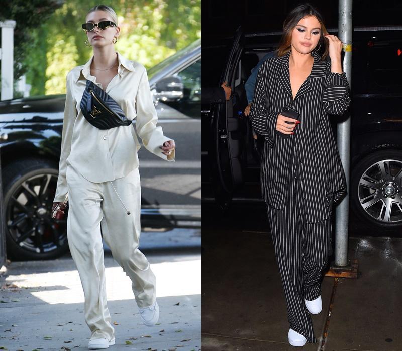 Gu yêu giống nhau, Hailey Bieber - Selena Gomez còn chung gu ăn mặc-4