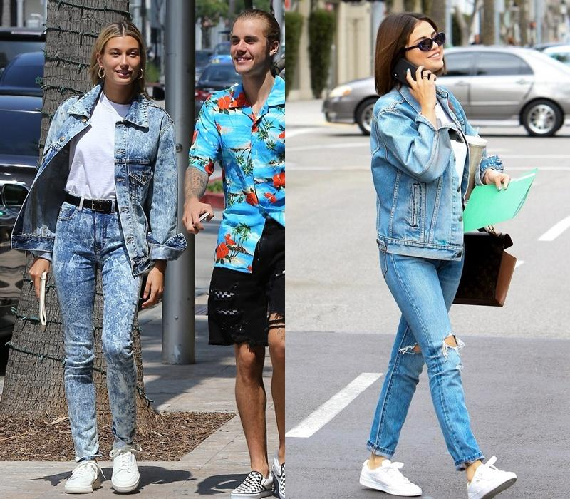 Gu yêu giống nhau, Hailey Bieber - Selena Gomez còn chung gu ăn mặc-5