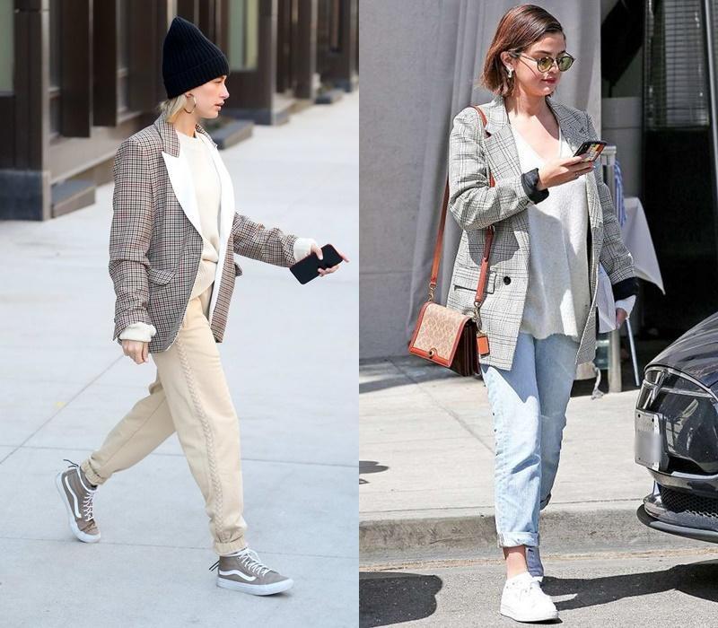 Gu yêu giống nhau, Hailey Bieber - Selena Gomez còn chung gu ăn mặc-6