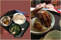 Chồng nấu cơm cữ, vợ chết ngất vì nguyên cái bàn chân lợn trên mâm