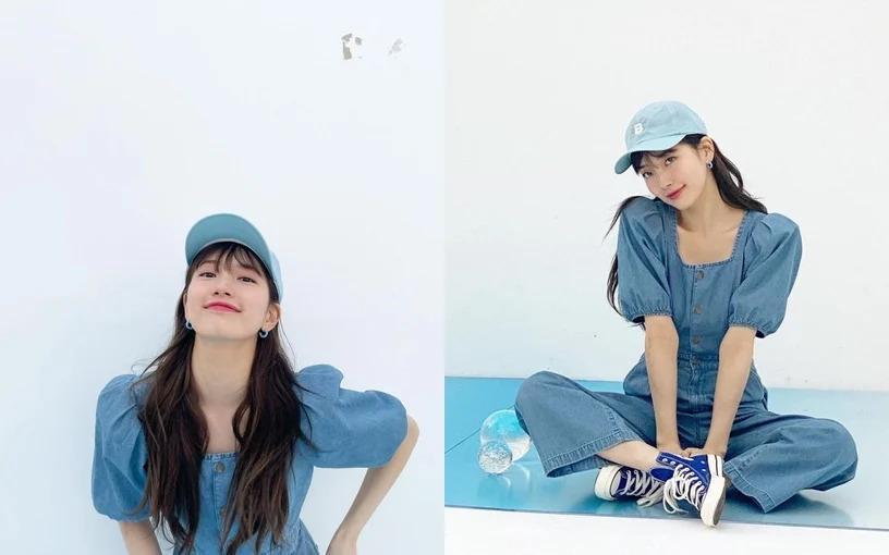 Mỹ nhân Hàn - Trung lăng xê mốt váy áo cổ vuông khoe xương quai xanh quyến rũ-5