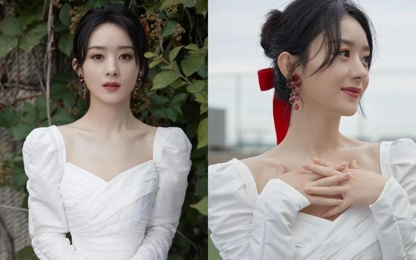 Mỹ nhân Hàn - Trung lăng xê mốt váy áo cổ vuông khoe xương quai xanh quyến rũ-2
