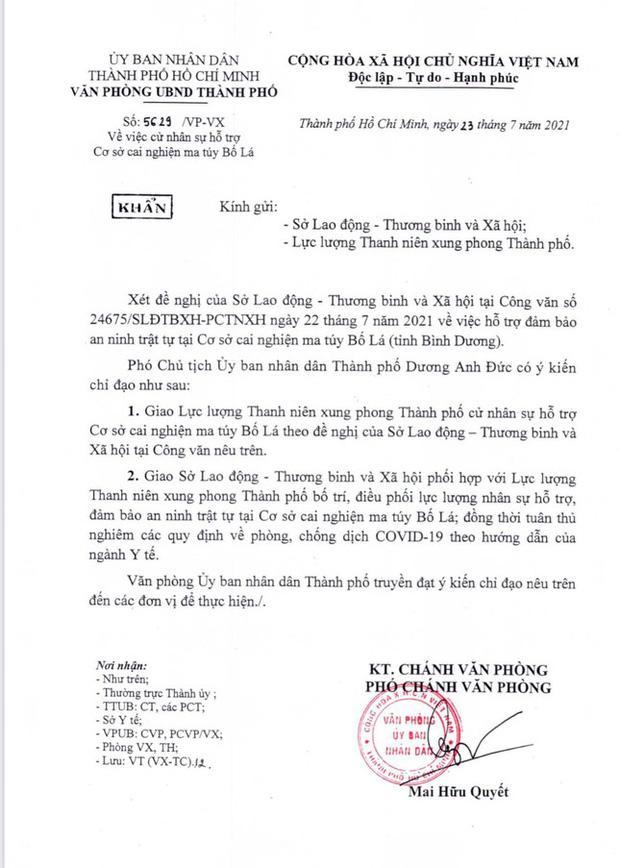 Kiến nghị TP.HCM thu hồi văn bản dương tính ở trại cai nghiện Bố Lá-2