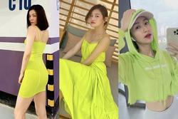 Lệ Quyên, Minh Triệu khoe body 'nức nở' với xanh chuối hot trend
