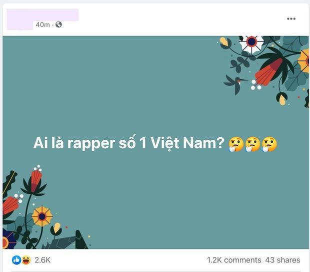 Cộng đồng mạng truy tìm Ai là rapper số 1 Việt Nam?-3