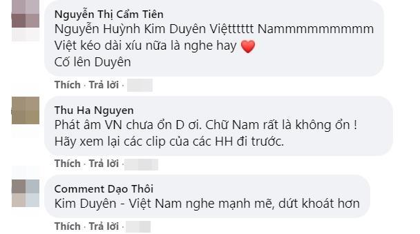 Kim Duyên bị chê cách hô Việt Nam khi luyện thi Miss Universe-2