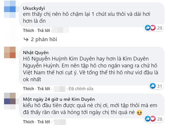 Kim Duyên bị chê cách hô Việt Nam khi luyện thi Miss Universe-3