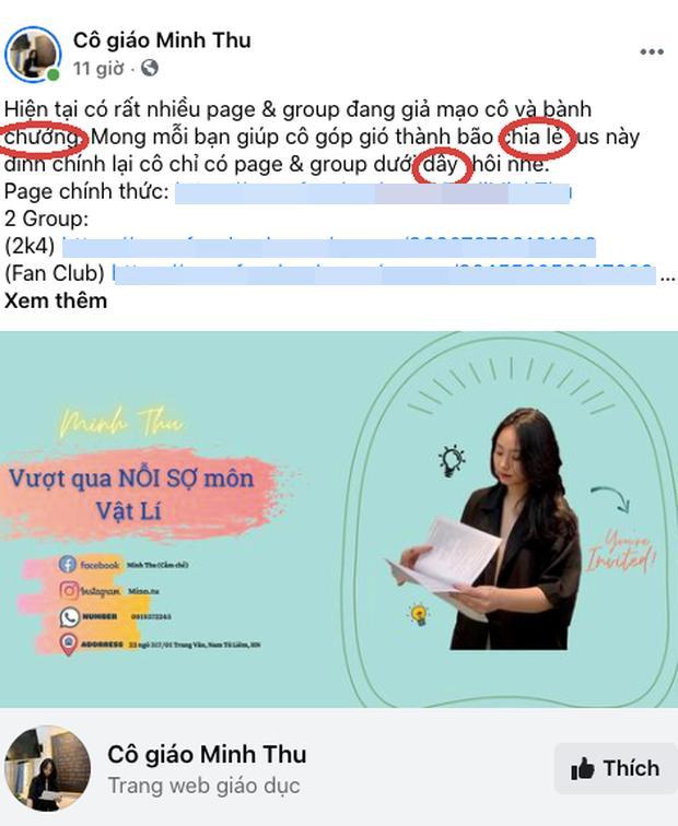 Lên bài kêu gọi dân mạng ủng hộ, cô giáo Minh Thu viết sai 3 lỗi chính tả-1