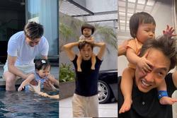 Cưng xỉu loạt khoảnh khắc 'cute' của bố con Cường Đô La