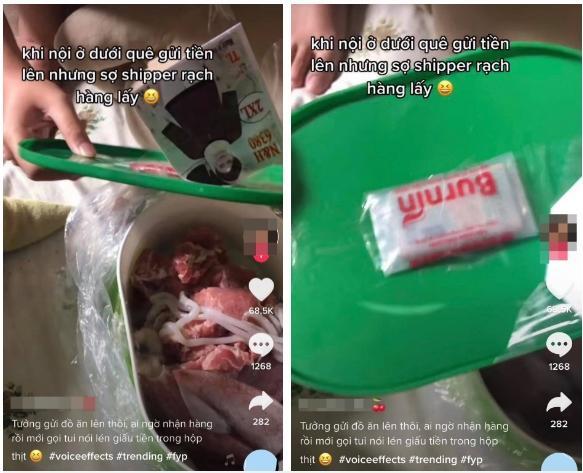 Khui hộp đồ ăn bà nội gửi dưới quê lên, cô gái thấy cả bọc tiền được giấu kín-3