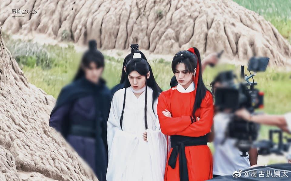 Người hâm mộ ngán ngẩm ảnh hậu trường đam mỹ Thiên Quan Tứ Phúc-2
