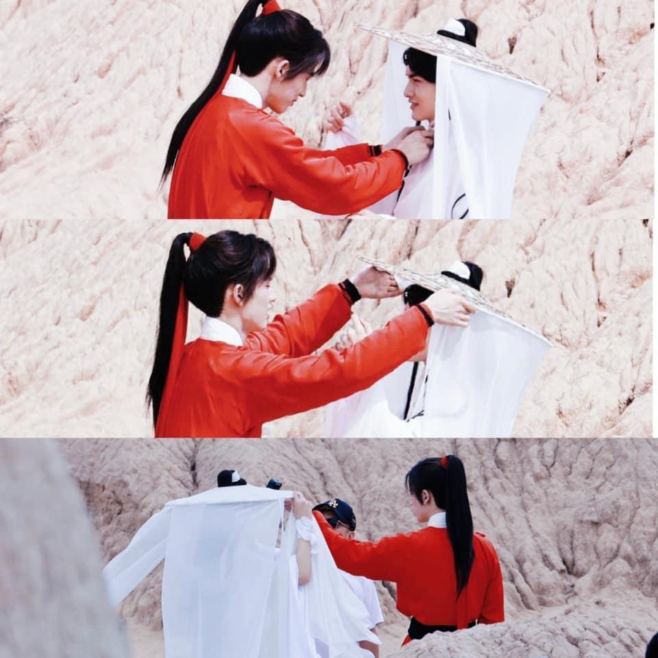 Người hâm mộ ngán ngẩm ảnh hậu trường đam mỹ Thiên Quan Tứ Phúc-6