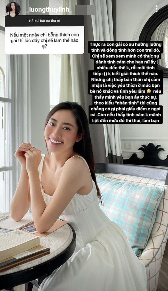 Hoa hậu Lương Thùy Linh được hỏi chuyện yêu đương nữ giới-2