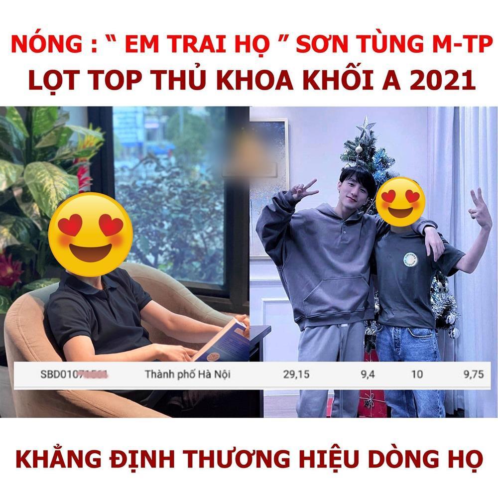 Em trai họ Sơn Tùng M-TP lọt top điểm cao nhất khối A1 kỳ thi năm nay?-1