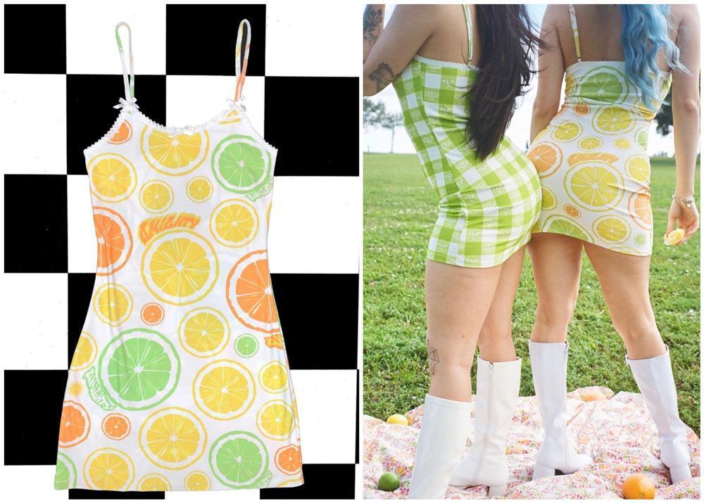 Thiều Bảo Trâm - Jennie BLACKPINK lăng xê mốt váy áo họa tiết hoa quả cute-8