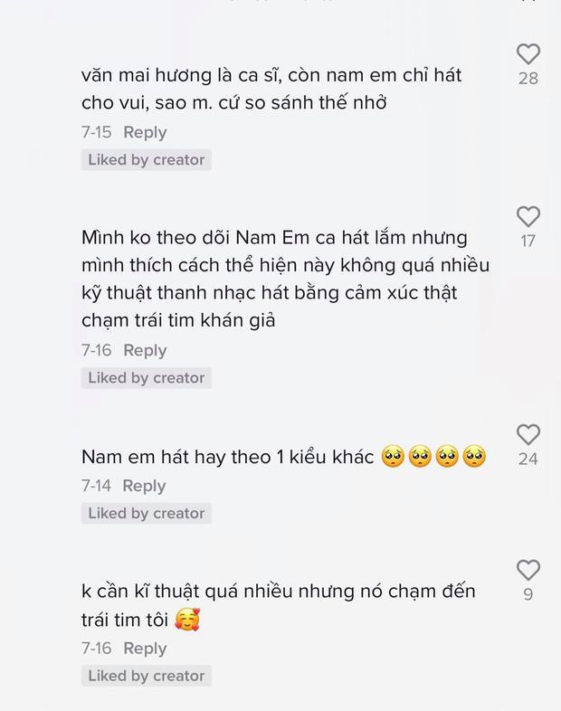 Nam Em cover khiến netizen u mê: Ăn đứt Văn Mai Hương-4