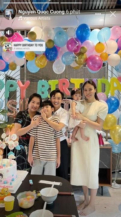 Bà nội quyền lực mừng sinh nhật con gái Cường Đô La 1 tuổi-3