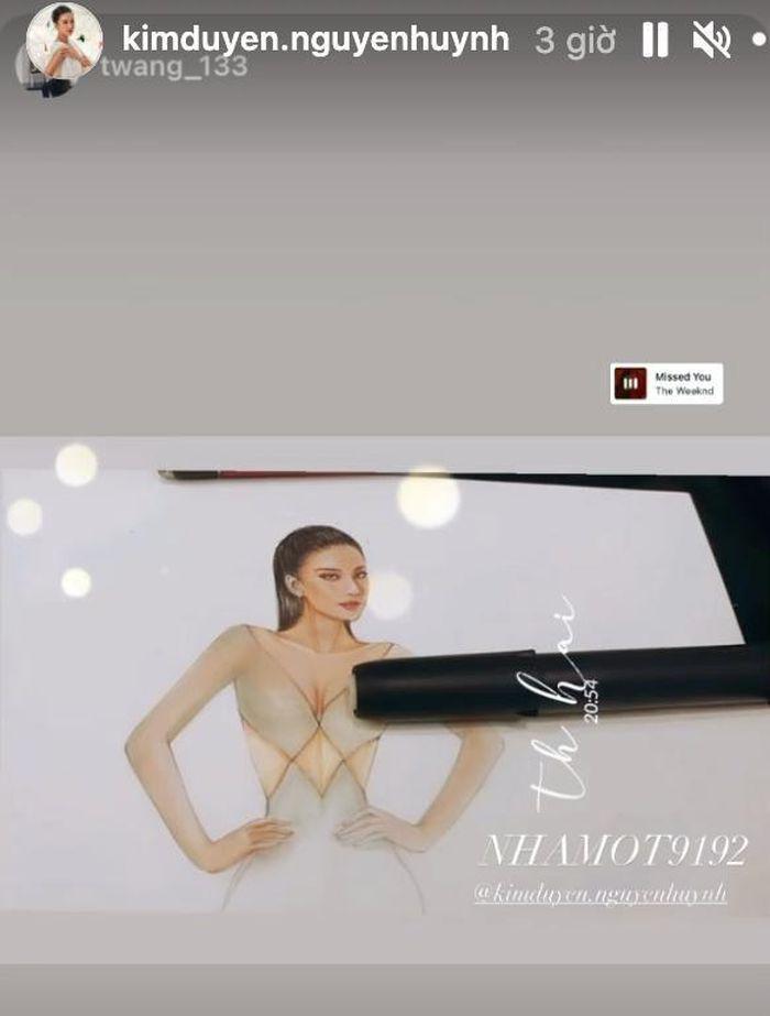 Sau Đỗ Thị Hà, Kim Duyên hé lộ váy dạ hội chinh chiến Miss Universe-6